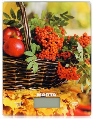 Весы кухонные Marta MT-1634 рисунок кухонные весы marta mt 1634 осенний день