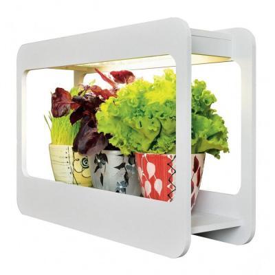 Светильник для растений UNIEL ULT-P30-15W/SPFS IP40 WHITE светодиодный с подставкой.Для фотосинтез светильник для растений uniel uli p10 10w spfr ip40 white светодиодный линейный 550мм
