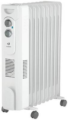 Масляный радиатор Timberk TOR 31.2409 QT 2400 Вт колеса для перемещения вентилятор термостат белый