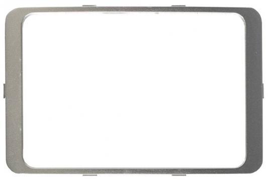 Рамка СВЕТОЗАР SV-54176-SM гамма декоративная светло-серый металлик двойная