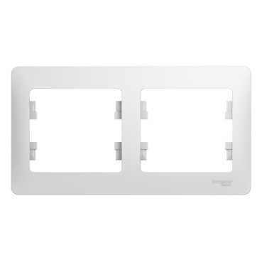 Рамка SCHNEIDER ELECTRIC GSL000102 Glossa 2-м горизонт. бел. рамка schneider electric gsl000103 glossa 3 м горизонт бел