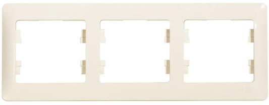 Рамка SCHNEIDER ELECTRIC GSL000203 Glossa 3-м горизонт. беж.