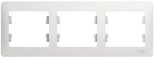 Рамка SCHNEIDER ELECTRIC GSL000103 Glossa 3-м горизонт. бел.