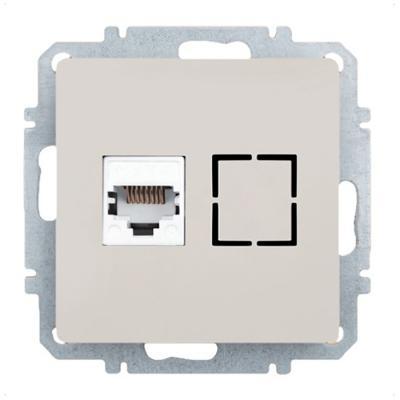 Розетка ZAKRU CLASICO ZA215405 (Сл.Кость) Компьютерная 8P8C цена