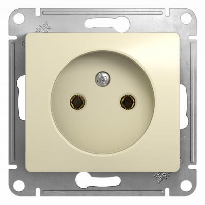 Механизм розетки SCHNEIDER ELECTRIC GSL000241 Glossa 1-м без заземл. беж.