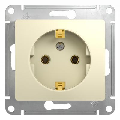Механизм розетки SCHNEIDER ELECTRIC GSL000243 Glossa 1-м с заземл. беж.