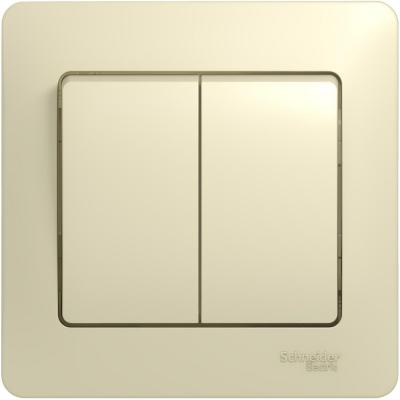 Выключатель SCHNEIDER ELECTRIC 275218 Glossa 2-кл. сп беж. gsl000252