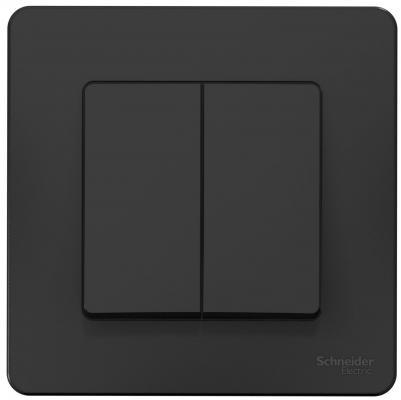 Фото - Выключатель SCHNEIDER ELECTRIC BLNVS010506 Blanca 2-кл. сп сх.5 10А 250В антрацит переключатель schneider electric blanca одноклавишный цвет антрацит 10 а se blnva106016