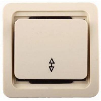 Выключатель СВЕТОЗАР SV-54137-B гамма проходной одноклавишный без подсветки бежевый 10А 250В