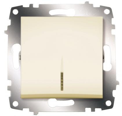 Выключатель ABB COSMO 619-010300-201 кремовый 1 кл с подсв. выключатель abb bjb basic 55 шато 1 клавиша цвет черный