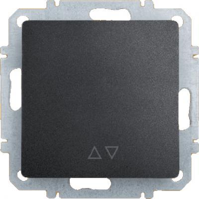 Переключатель ZAKRU CLASICO ZA215420 (Черный) Одноклавишный