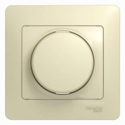 Механизм светорегулятора SCHNEIDER ELECTRIC 275196 Glossa светорегулятор сп 300Вт поворот. беж.