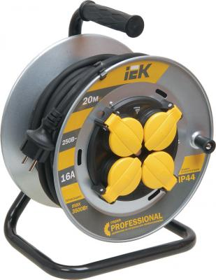 Удлинитель IEK Professional WKP16-16-04-20-44 4 розетки 20 м удлинитель iek ук40 40m 4 socket wkp23 10 04 40