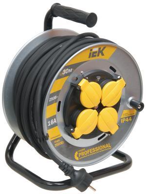 Удлинитель ИЭК УК30 Professional на катушке 4гнезда с/з 30м (КГ 3х1,5) метал. с термозащитой
