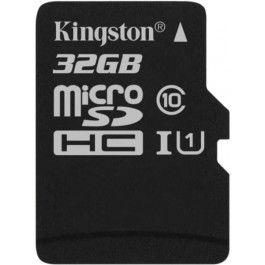 Карта памяти Micro SDHC 32GB Class 10 Kingston SDCS/32GBSP карта памяти micro sdhc sony sr32nyat 32gb