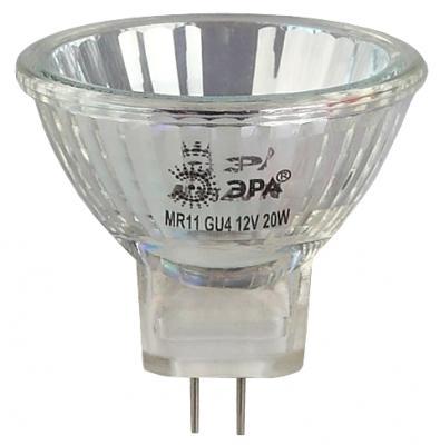 Лампа галогенная ЭРА GU4-MR11-20W-12V-30Cl (10/200/8400) лампочка osram 44888wfl 12v 10w 36 gu4 mr11