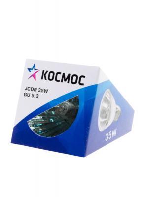 Лампа галогенная с отражателем КОСМОС JCDR 220В/35Вт GU5.3 лампа галогенная капсульная космос jd 220в 35вт g6 35