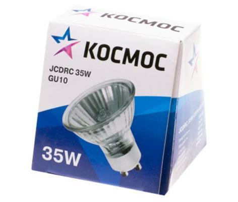 Лампа галогенная с отражателем КОСМОС JCDRC 220В/35Вт GU10 лампа галогенная капсульная космос jd 220в 35вт g6 35