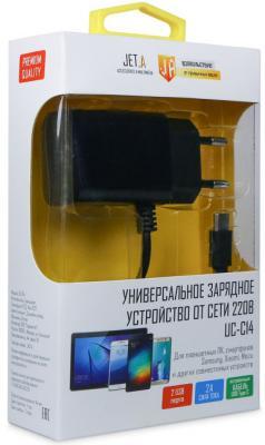 Сетевое зарядное устройство Jet.A UC-C14 USB-C 2.1A черный 50pcs micro usb 3 0 male to usb c usb 3 1 type c female extension data cable for macbook tablet 10cm by fedex