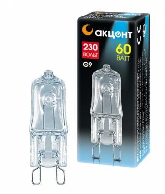 купить Лампа галогенная АКЦЕНТ JCD 230В 60W G9 CL капсульная прозрачная по цене 40 рублей