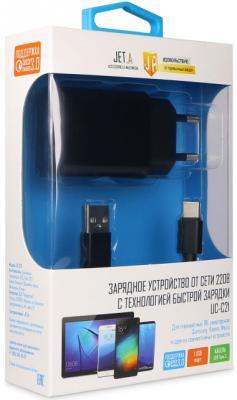 Сетевое зарядное устройство Jet.A UC-C21 USB-C 3 А черный сетевое зарядное устройство moshi progeo usb type c