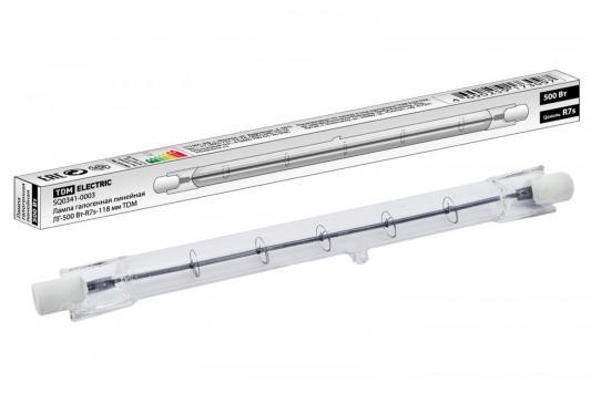 Лампа галогенная ТДМ SQ0341-0003 линейная 500Вт 118мм блок tdm sq1813 0003