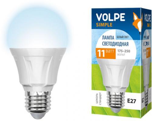 Лампа светодиодная VOLPE LED-A60-11W/NW/E27/FR/S E27 11Вт форма A60 матовая колба белый лампа светодиодная шар volpe led a60 8w nw e27 fr dim o e27 8w 3000k