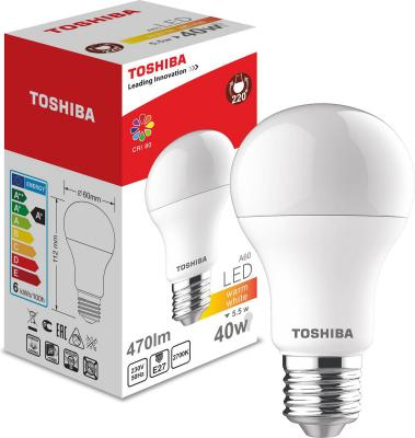 Лампа TOSHIBA 00101315010B светодиодная а60 40Вт 2700k 80ra nd-1 pk yy 3 0 inch bi led projector lens headlight 35w 6000k hi lo beam auto lighting headlamp car styling car led headlight auto parts