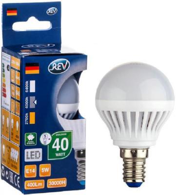 Лампа светодиодная шар Rev ritter 32261 0 E14 5W 4000K rev ritter 32300 6