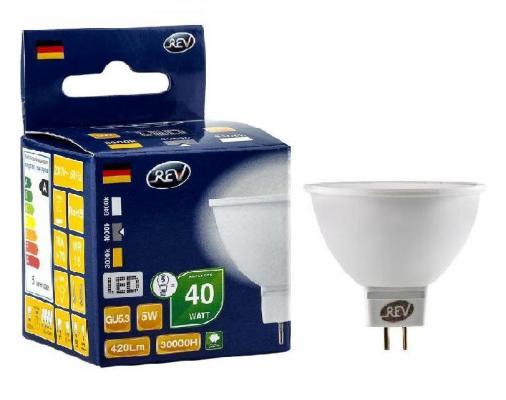 Лампа светодиодная REV RITTER 32323 5 MR16 GU5.3 5W 4000K таймер rev ritter 66989 6