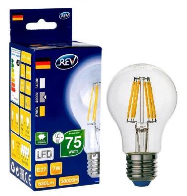 Лампа светодиодная REV RITTER 32354 9 6Вт E27 540лм 4000К холодный свет переходник rev ritter 12736 9