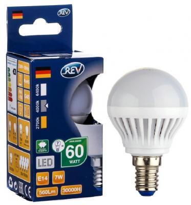 Лампа светодиодная REV RITTER 32341 9 7Вт E14 600лм 4000К холодный свет переходник rev ritter 12736 9