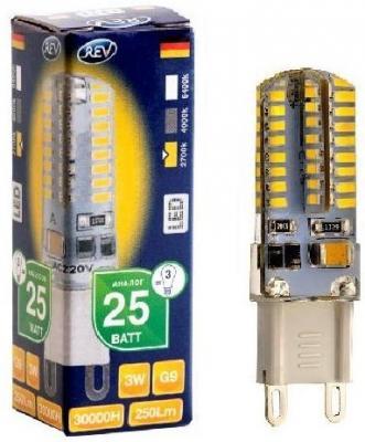 Лампа светодиодная REV RITTER 32367 9 3Вт G9 250лм 2700К теплый свет переходник rev ritter 12736 9