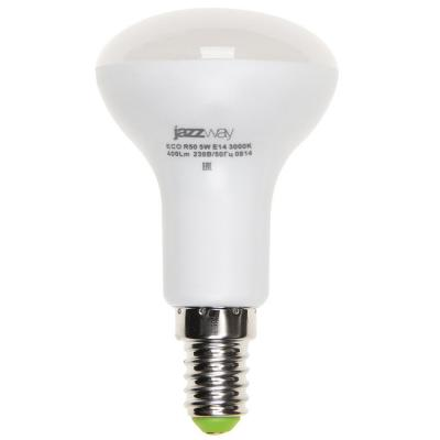Лампа светодиодная JAZZWAY PLED-ECO-R50 5Вт e14 4000k 400лм лампа настольная jazzway ptl 1128 black