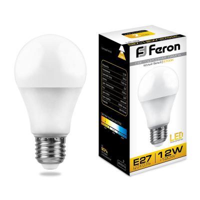 Лампа светодиодная шар FERON LB-93 E27 12W 2700K 25489 цена в Москве и Питере