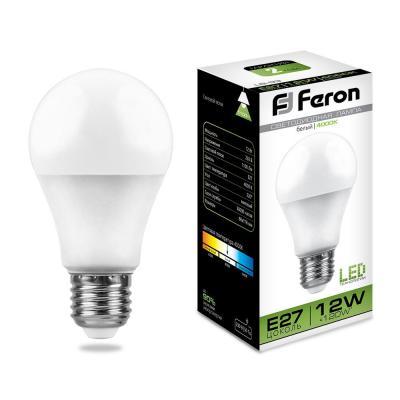 Лампа светодиодная FERON 25487 (12W) 230V E27 4000K, LB-93 светильник led jazzway pbh pc2 ra 12w компакт 4000k white ac 230v 50hz
