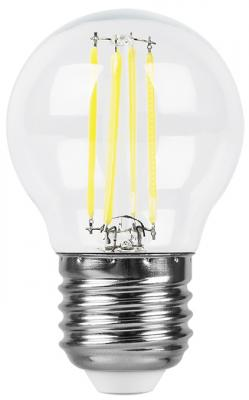 Лампа светодиодная FERON 25582 (5W) 230V E27 4000K, LB-61 лампа светодиодная feron 25629 15w 230v e27 4000k lb 94