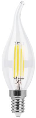 купить Лампа светодиодная свеча на ветру FERON LB-67 E14 7W 2700K по цене 130 рублей