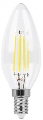 Лампа светодиодная свеча FERON LB-66 E14 7W 2700K лампа feron green de1708