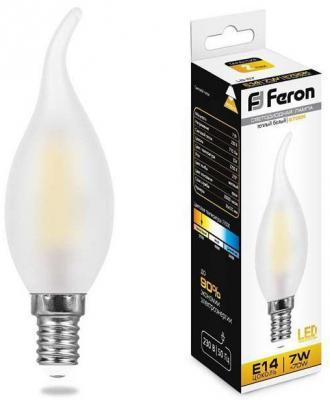 Лампа светодиодная FERON 25786 (7W) 230V E14 2700K матовая, LB-67 лампа светодиодная [поставляется по 10 штук] feron лампа светодиодная e14 230в 7вт 2700k lb 67 25786 [поставляется по 10 штук]