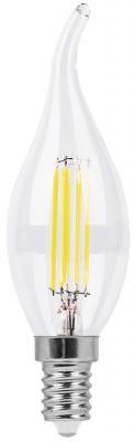 Лампа светодиодная свеча на ветру FERON LB-67 E14 7W 4000K лампа feron green de1708