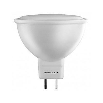 Лампа светодиодная ERGOLUX 12159 LED-JCDR-7W-GU5.3-4K JCDR 7Вт GU5.3 4500K 172-265В ergolux led c35 7w e14 3k эл лампа светодиодная свеча 7вт e14 3000k 172 265в