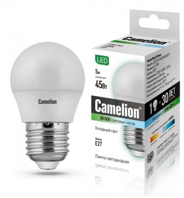 Лампа светодиодная CAMELION LED5-G45/830/E27 5Вт 220В Е27 3000К лампа светодиодная camelion led3 g45 845 е27 3вт 220в е27