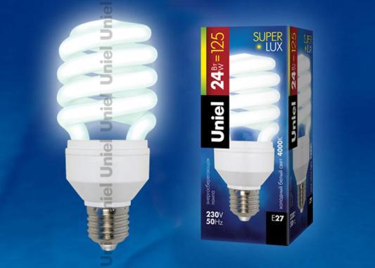 Лампа энергосберегающая UNIEL ESL-H32-24/4000/E27 E27 24Вт 4000К лампа энергосберегающая uniel 2g7 11w cпираль белый