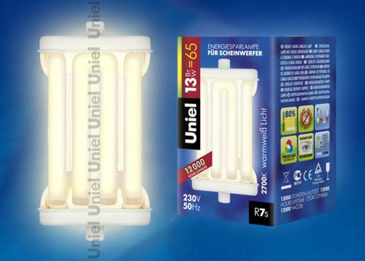 Лампа энергосберегающая UNIEL ESL-322-J78-13/2700/R7s R7s 13Вт 2700К лампа энергосберегающая uniel 2g7 11w cпираль белый