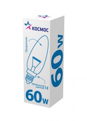 Лампа накаливания свеча КОСМОС 61453 E14 60W 2700K phillips лампа накаливания ge 60w e14 свеча прозрачная