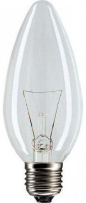 Лампа накаливания PHILIPS B35 40W E14 CL свеча прозрачная 1 шт флуоресцентная лампа philips led t8 1 2
