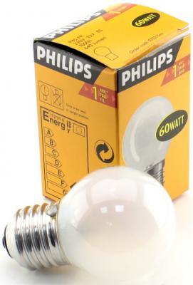 Лампа накаливания PHILIPS P45 60W E27 FR шарик матовый philips b35 60w e14 fr