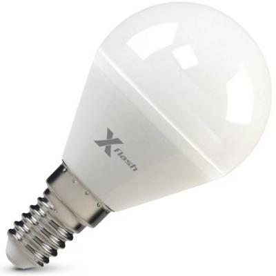 Лампа X-FLASH XF-E14-P45-6.5W-2700K-230V Шар. Е14. 2700К. 470лм.X6 светильник 45785 x flash