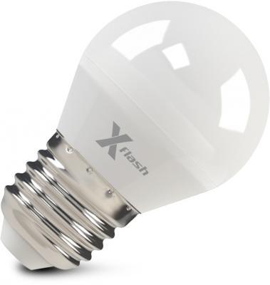 цена на Лампа X-FLASH XF-E27-G45-6.5W-4000K-230V Шар. Е27. 4000К. 490лм.X6